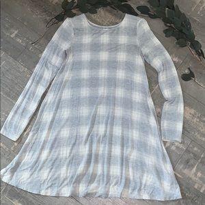 Old navy plaid swing dress